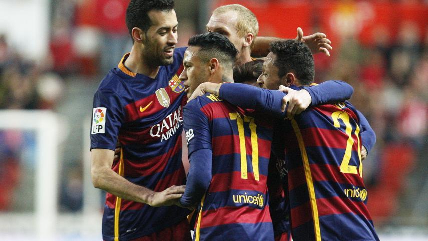 Victoria y acelerón del FC Barcelona por la Liga BBVA