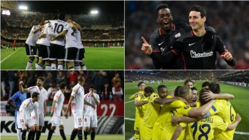 Los equipos de LaLiga deslumbran en la ida de los dieciseisavos de la Europa League