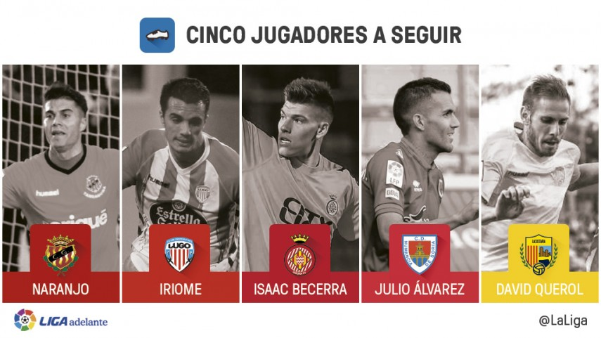 Cinco jugadores a seguir en la jornada 26 de la Liga Adelante