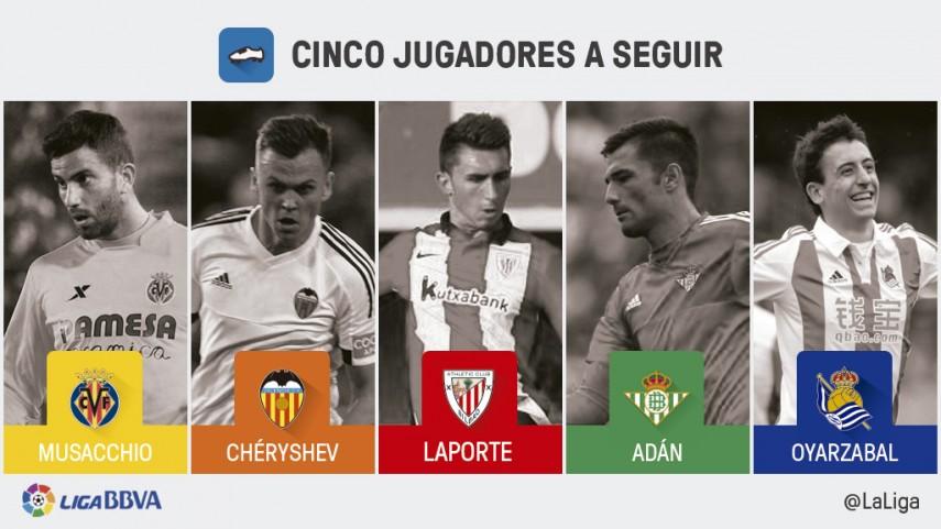 Cinco jugadores a seguir en la jornada 25 de Liga BBVA