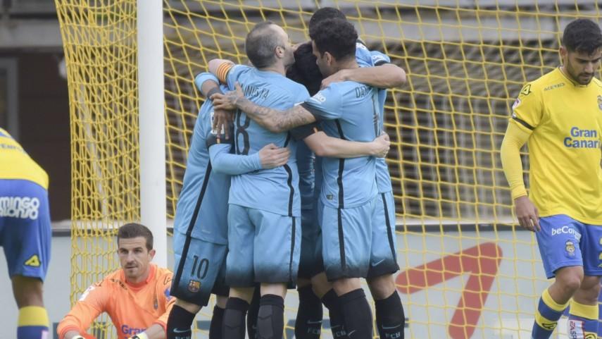 La valentía de Las Palmas no puede con el récord del Barcelona