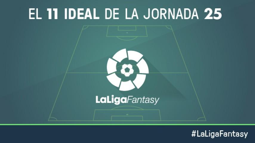 Once ideal de LaLiga Fantasy en la jornada 25