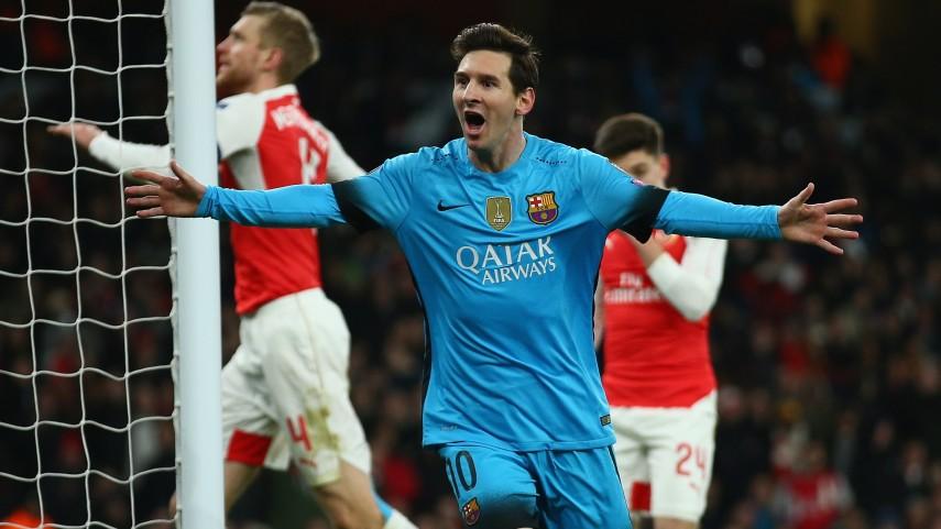 Messi acerca al Barcelona a los cuartos de la UEFA Champions League