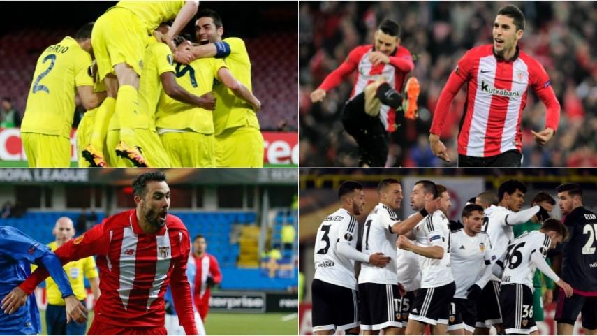 Pleno español en los octavos de final de la Europa League