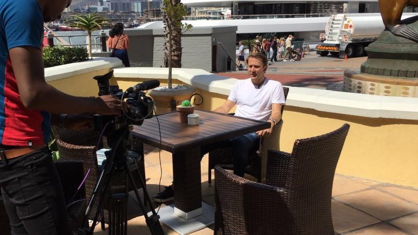 Gaizka Mendieta triunfa como embajador de Liga BBVA en Ciudad del Cabo