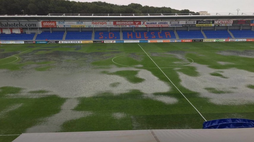 El SD Huesca – RCD Mallorca, aplazado por condiciones climatológicas adversas