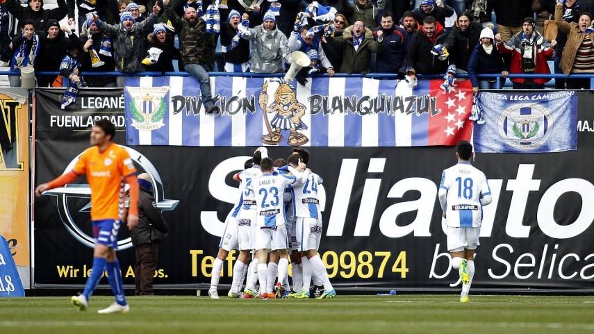 El Leganés se situa en lo alto de la tabla.