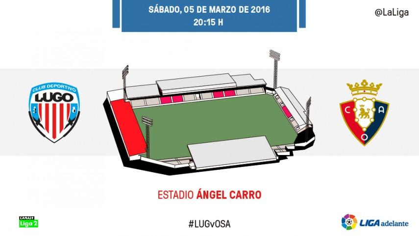 El CD Lugo quiere volver a sumar a costa de un motivado At. Osasuna
