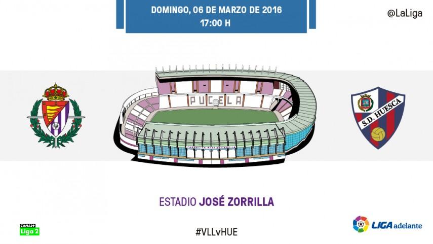 El Huesca pone a prueba la racha del Valladolid