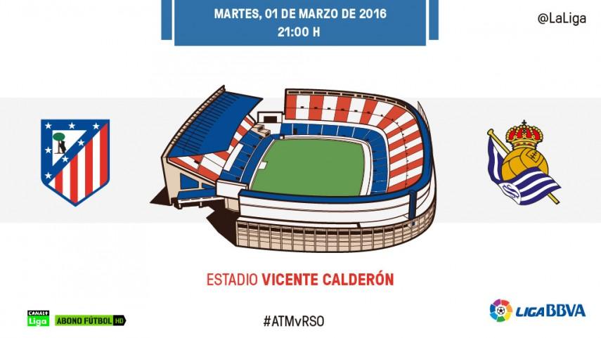 El Calderón mide la euforia de Atlético y Real Sociedad
