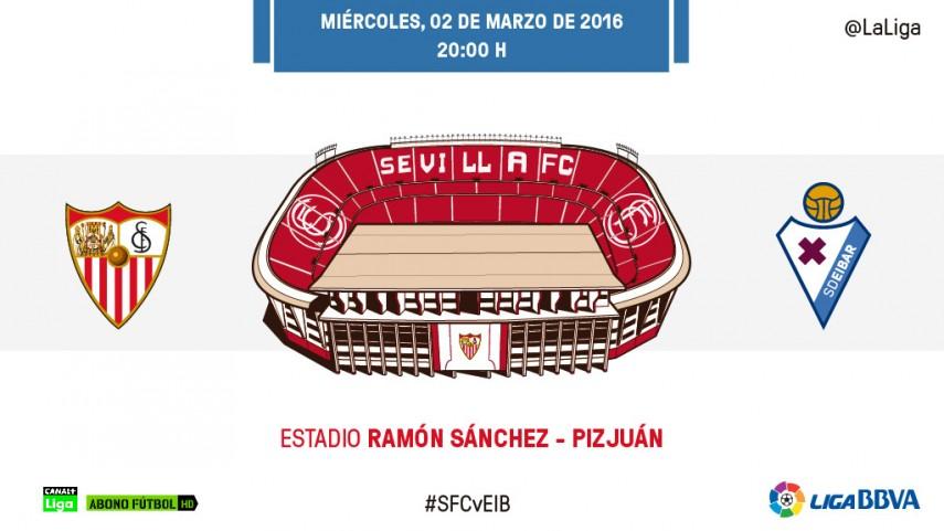 El Eibar visita el inexpugnable Ramón Sánchez Pizjuán