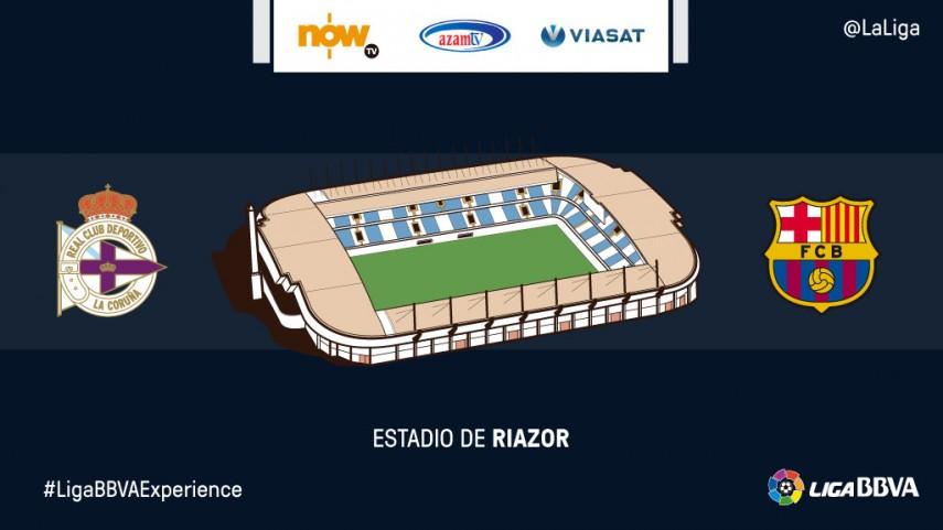 Espectadores de NOW TV, Azam y Viasat disfrutarán en directo del RC Deportivo – FC Barcelona