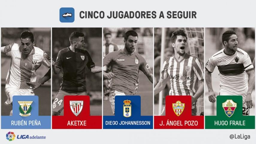 Cinco jugadores a seguir en la jornada 28 de la Liga Adelante