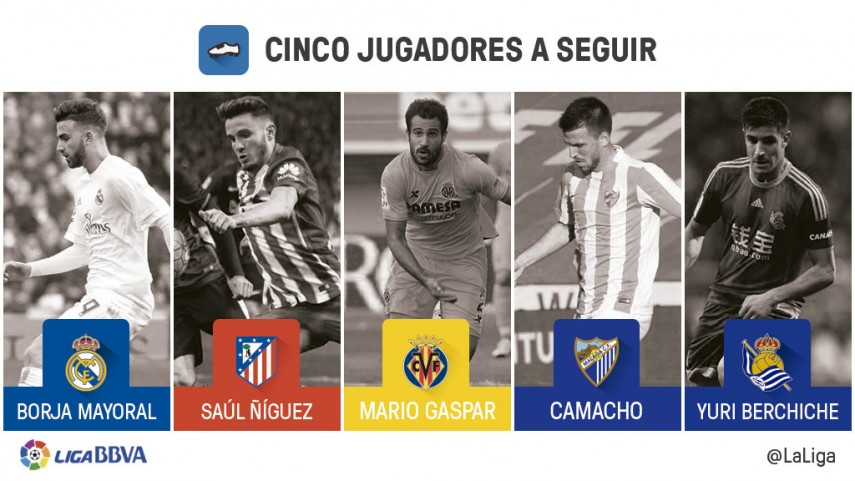 Cinco jugadores a seguir en la jornada 28 de Liga BBVA