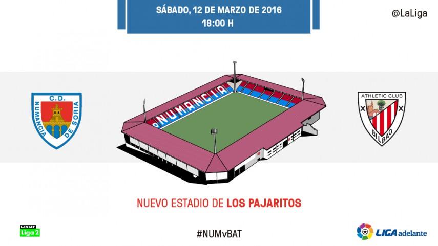 Numancia vs Bilbao Athletic: necesidad de puntuar