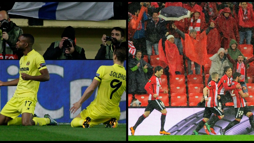 El Villarreal y el Athletic Club comienzan con buen pie los octavos de final de la Europa League