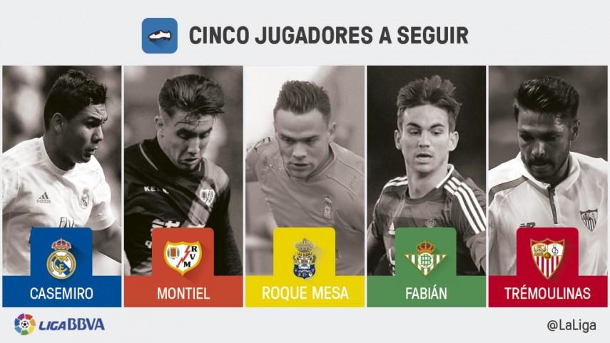 Cinco jugadores a seguir en la jornada 29 de Liga BBVA
