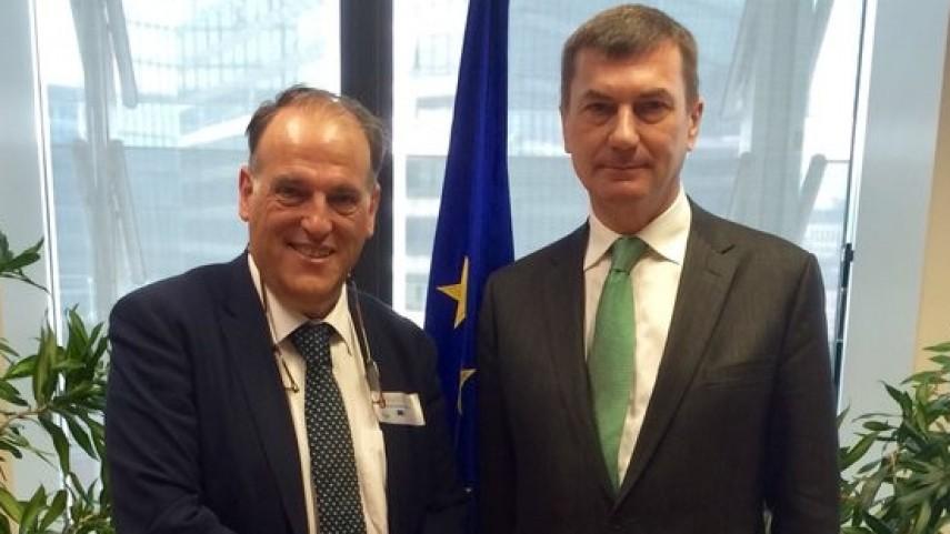 LaLiga aborda el mercado único digital con la Comisión Europea