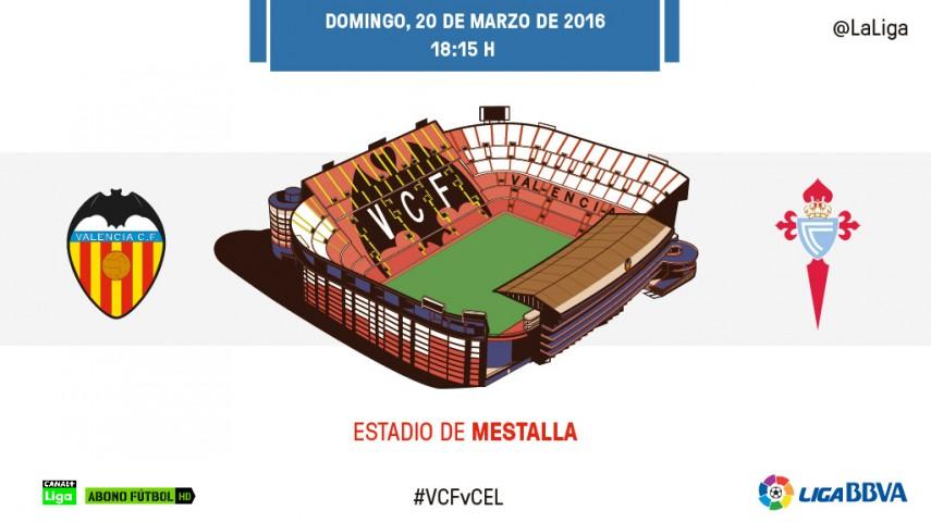 El Celta busca acabar con su sequía de triunfos en Mestalla