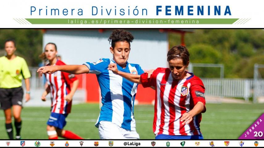 El Espanyol - At. Madrid Féminas, protagonista de la jornada 20 de la Primera División Femenina