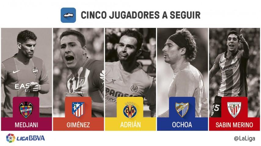 Cinco jugadores a seguir en la jornada 30 de Liga BBVA