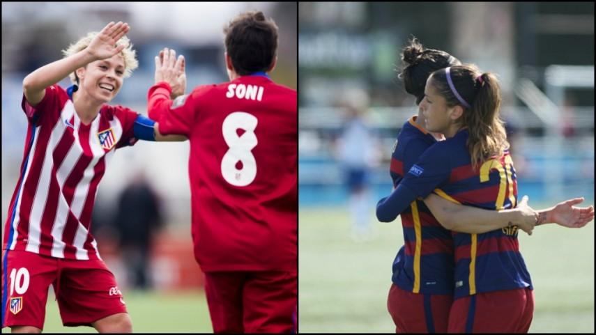 El FC Barcelona y el At. Madrid Féminas se colocan a un punto del Athletic, el líder de la Primera División Femenina
