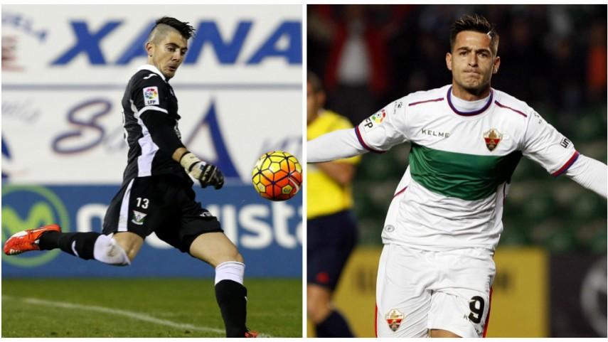 El duelo del gol entre Serantes y Sergio León