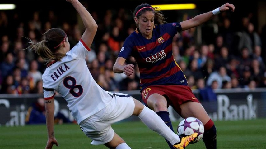 FC Barcelona y PSG empatan sin goles en la ida de cuartos de la Champions femenina