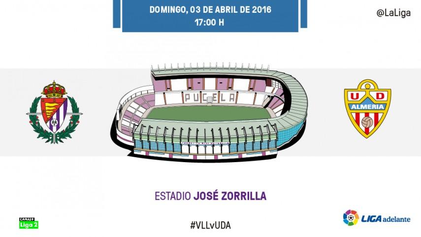 Valladolid y Almería quieren mirar hacia arriba