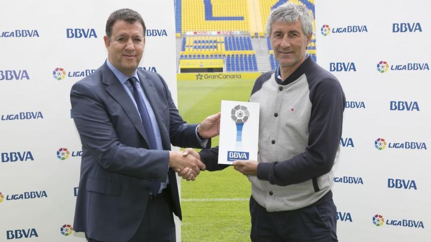 Quique Setién, Mejor Entrenador de la Liga BBVA en Marzo