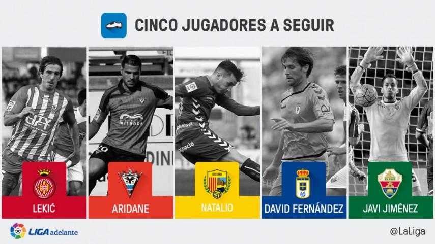 Cinco jugadores a seguir en la jornada 32 de la Liga Adelante