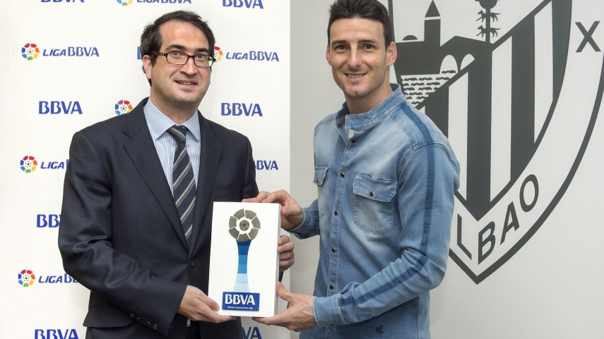 Aduriz named Liga BBVA Player of the Month for March