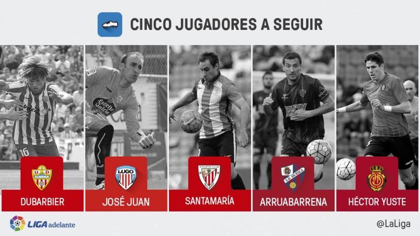 Cinco jugadores a seguir en la jornada 33 de la Liga Adelante