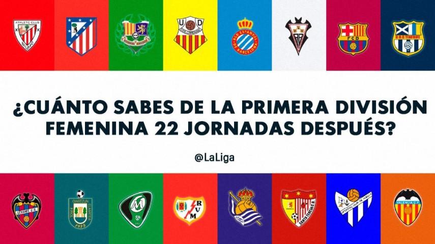 ¿Cuánto sabes de la Primera División Femenina 22 jornadas después?