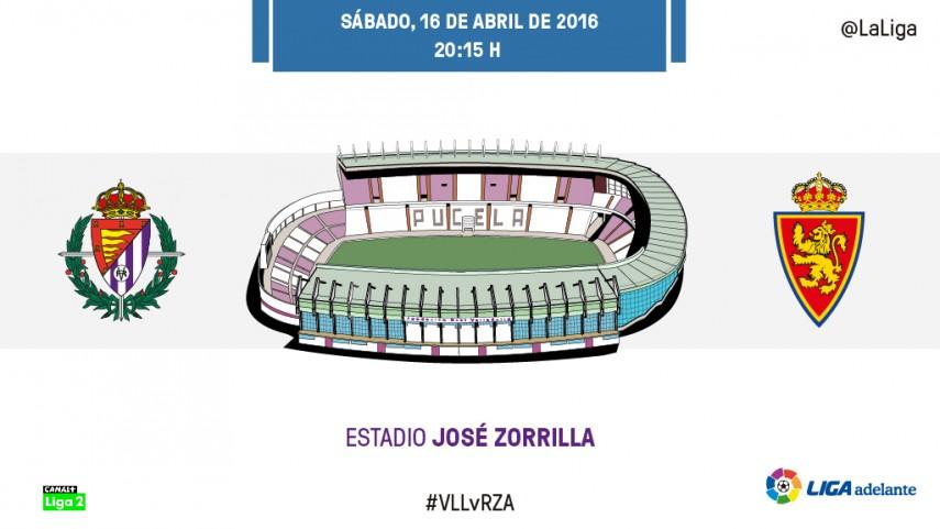 El Zaragoza mide las opciones de play-off del Valladolid