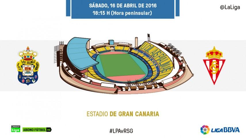 El Sporting pone a prueba la impresionante racha de Las Palmas