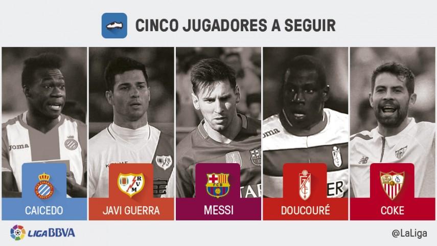 Cinco jugadores a seguir en la jornada 33 de la Liga BBVA