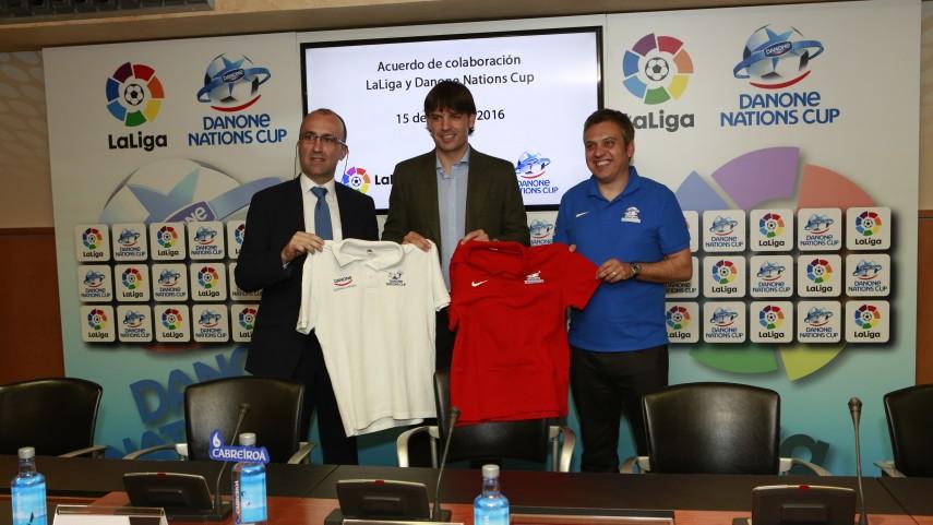 LaLiga y Danone Nations Cup presentan su primer acuerdo de colaboración