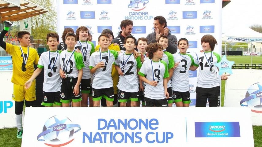 El Racing de Santander, campeón de la fase norte en la Danone Nations Cup