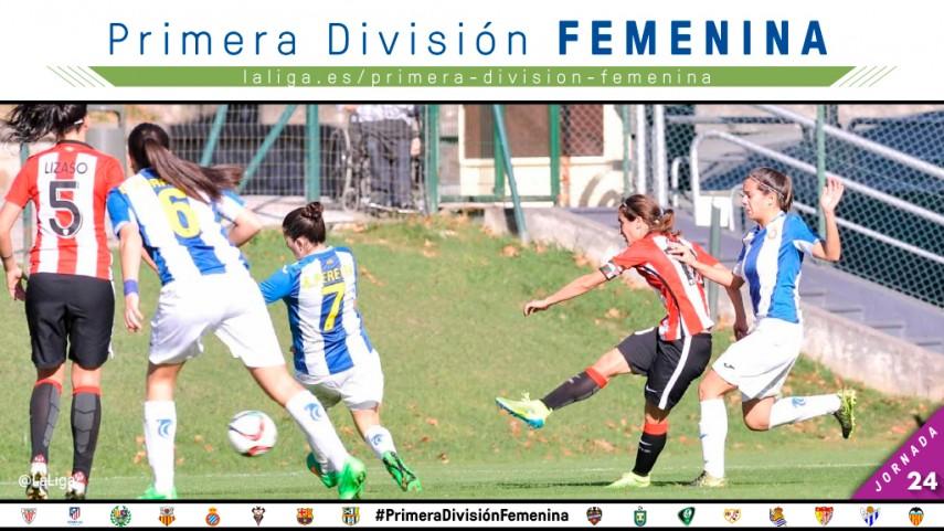 El Athletic defenderá el liderato de la Primera División Femenina ante el Espanyol