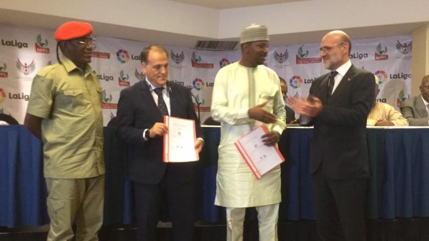 LaLiga firma un acuerdo de colaboración con los representantes del fútbol de Nigeria