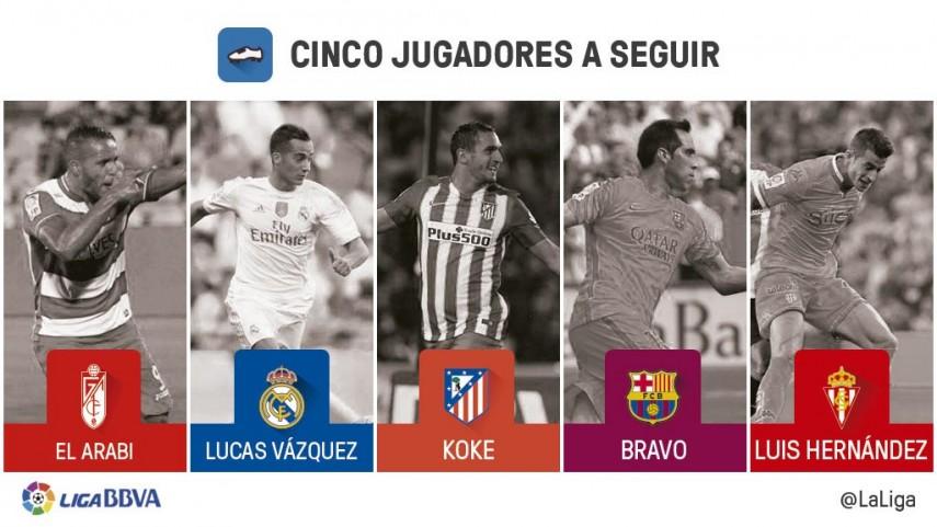 Cinco jugadores a seguir en la jornada 36 de Liga BBVA