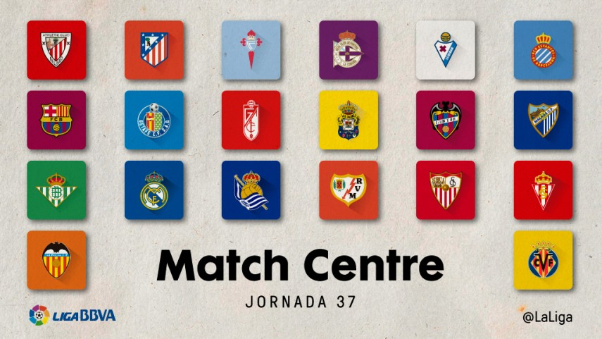 Disfruta la jornada 37 de Liga BBVA con el Match Centre de LaLiga