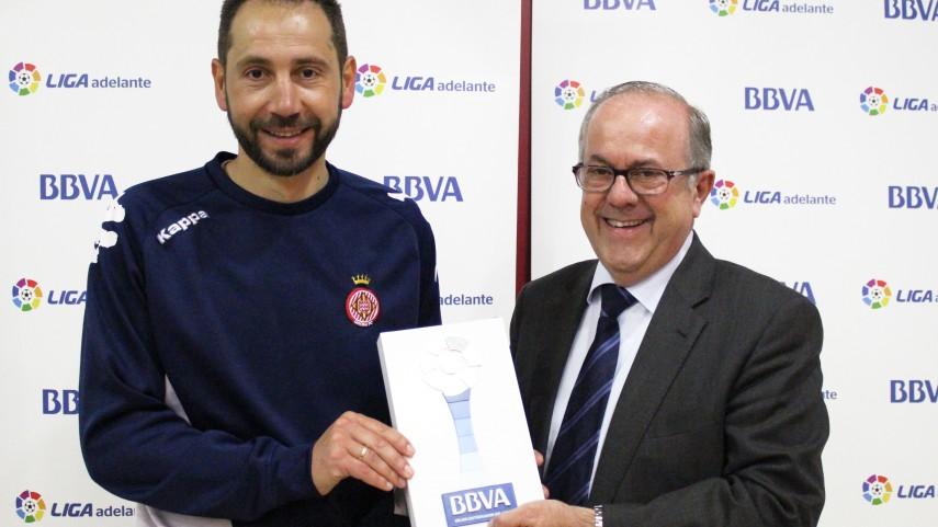 Pablo Machín, Mejor Entrenador de la Liga Adelante en Abril