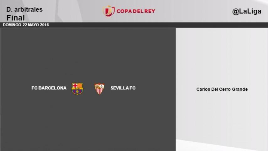 Carlos del Cerro Grande arbitrará la final de la Copa del Rey