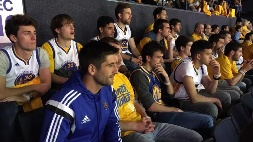 La Real Sociedad disfruta del espectáculo de la NBA