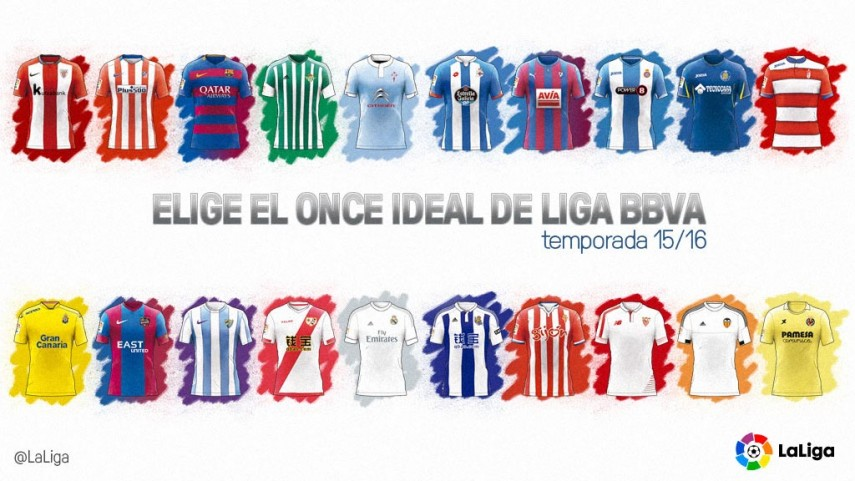 Tú eliges el 11 ideal de la temporada 2015/2016 de la Liga BBVA