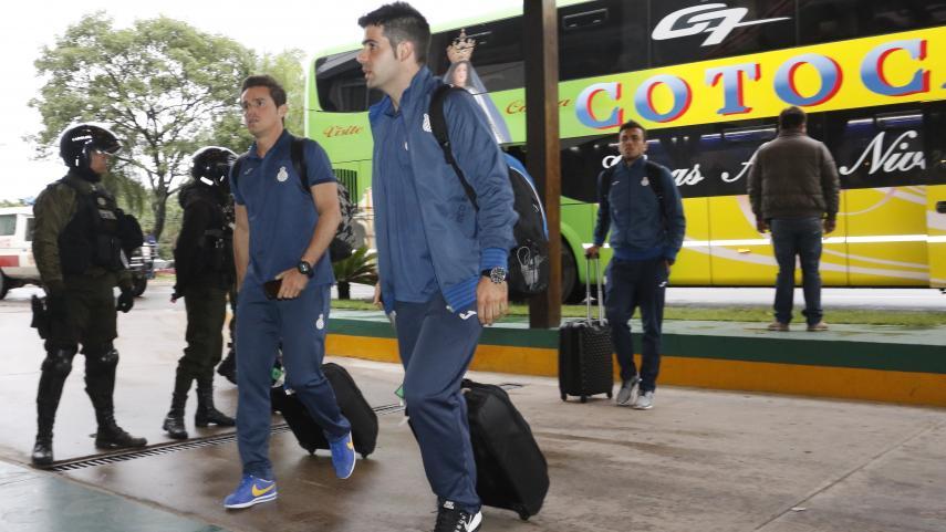 El RCD Espanyol aterriza en Bolivia rodeado de gran expectación
