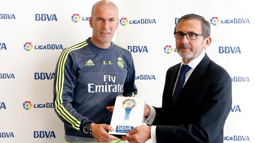 Zinedine Zidane, Mejor Entrenador de la Liga BBVA en Abril
