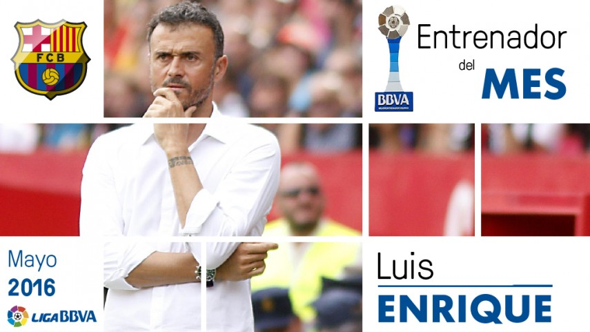 Luis Enrique named Liga BBVA Manager of the Month for May